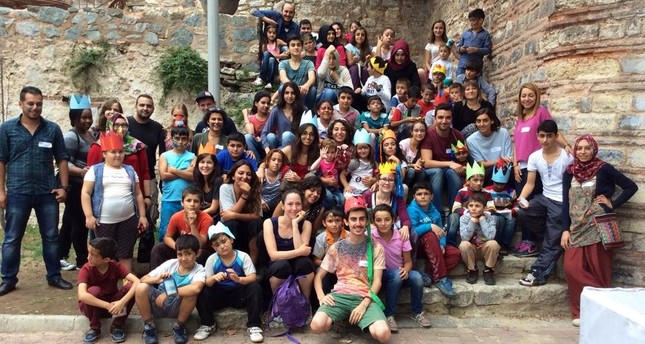 Some of the children Mavi Kalem has helped over the years.