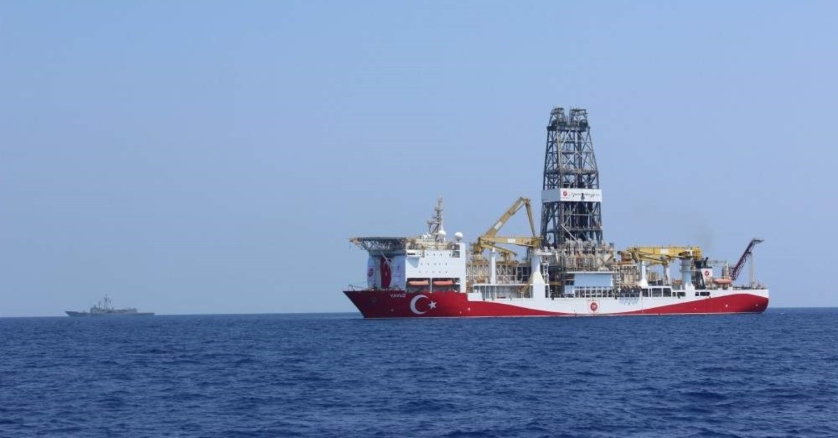 Turkey's second drilling vessel Yavuz has been carrying out operations in the Eastern Mediterranean since June 2019. (DHA Photo)