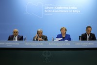 Leaders agree to uphold UN arms embargo, end military support in Libya