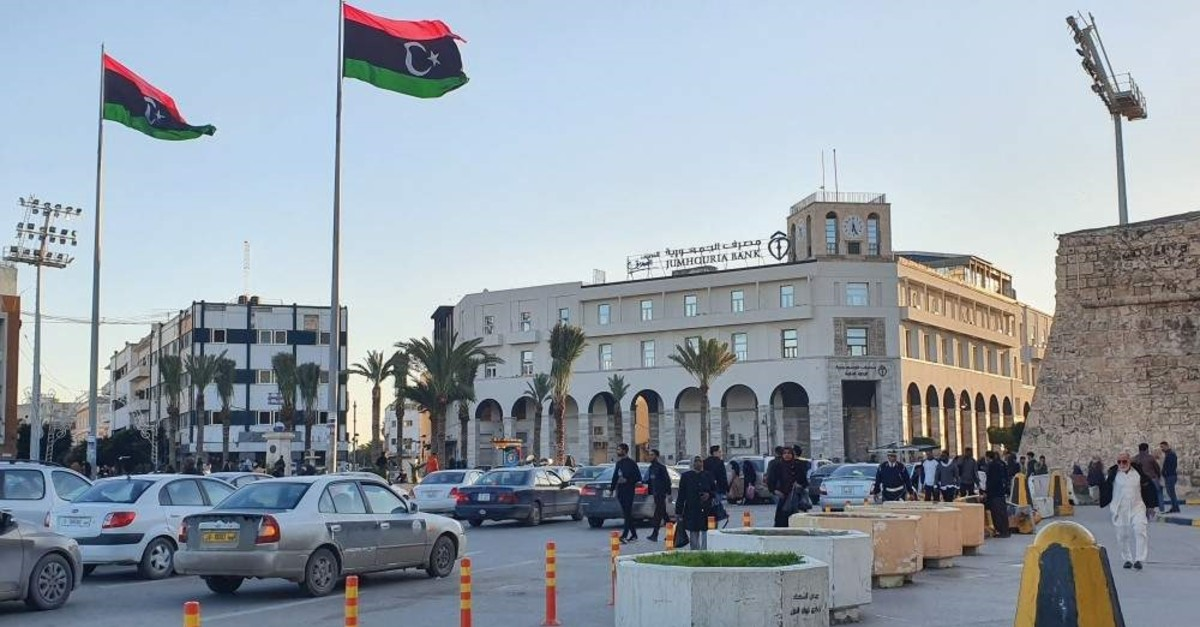 A picture taken on Jan. 20, 2020, shows a view of Martyr's square in the Libyan capital Tripoli. (AFP Photo)