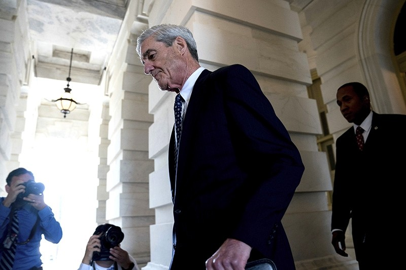 In this June 21, 2017, file photo, former FBI Director Robert Mueller, the special counsel probing Russian interference in the 2016 election, departs Capitol Hill following a closed door meeting in Washington. (AP Photo)