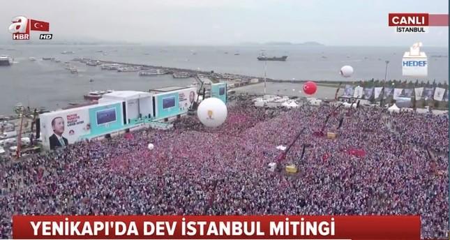 مئات الآلاف يشاركون في مهرجان العدالة والتنمية الانتخابي الكبير في إسطنبول