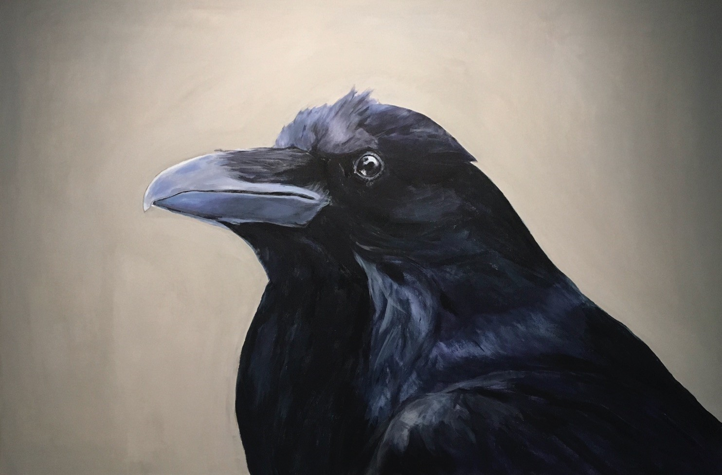 In her u201cRaven Portraitsu201d (2018) the artist Elmas Deniz portrayed ravens as dignified, complex beings for her current solo show at Pilot Gallery.