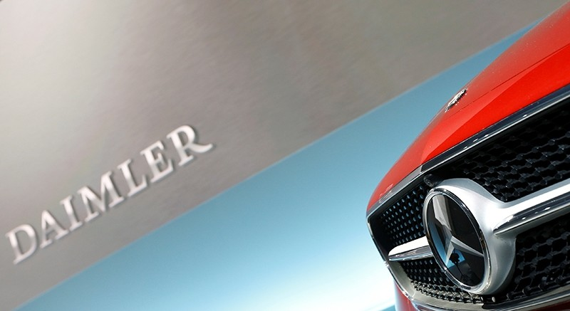 The Mercedes star logo of an E Coupe is pictured before the annual news conference of Daimler AG in Stuttgart, Germany, February 2, 2017 (Reuters Photo)