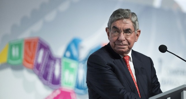 Oscar Arias, President of the Arias Foundation, Nobel Peace Prize Laureate and former president of Costa Rica, attends the Arms Trade Treaty meeting in Cancun Aug. 24, 2015. (Reuters Photo)