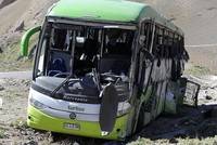 A passenger bus has flipped over on an Andean highway in Argentina, killing 19 of the 42 people aboard, police said Saturday.  Another 23 people were injured in the accident about 745 miles...