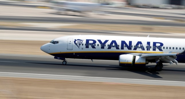 A Ryanair plane lands at Lisbon's airport, Portugal September 27, 2018. (Reuters Photo)