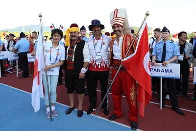 Istanbul firefighters dressed up in style for the games' opening ceremony. (IHA Photo)
