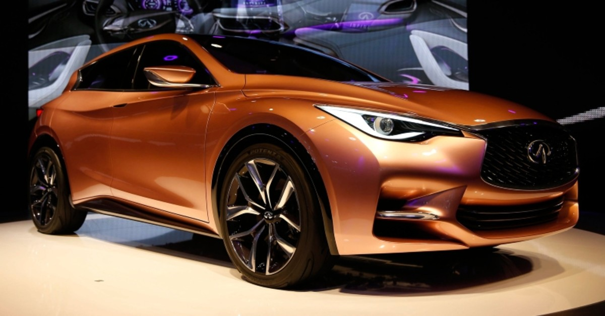 An Infiniti Q30 concept car is displayed during a media preview day at the Frankfurt Motor Show (IAA) September 10, 2013. (Reuters Photo)