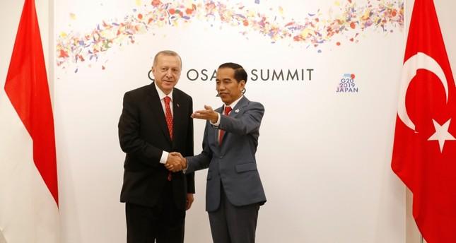 أردوغان يبحث زيارته المنتظرة إلى جاكرتا مع نظيره الإندونيسي