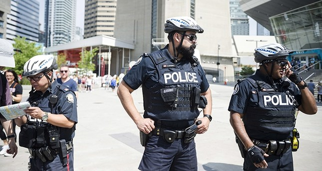 Police patrol an area in Toronto, on Thursday, July 12, 2018. (AP Photo)