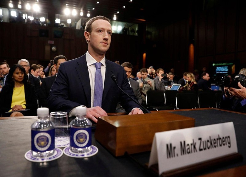 Facebook CEO Mark Zuckerberg arrives to testify before a Senate Judiciary and Commerce Committees joint hearing regarding the companyu2019s use and protection of user data, on Capitol Hill in Washington, U.S., April 10, 2018. (Reuters Photo)
