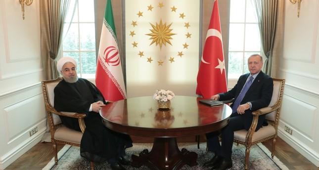 أردوغان يلتقي روحاني على هامش القمة الثلاثية حول سوريا