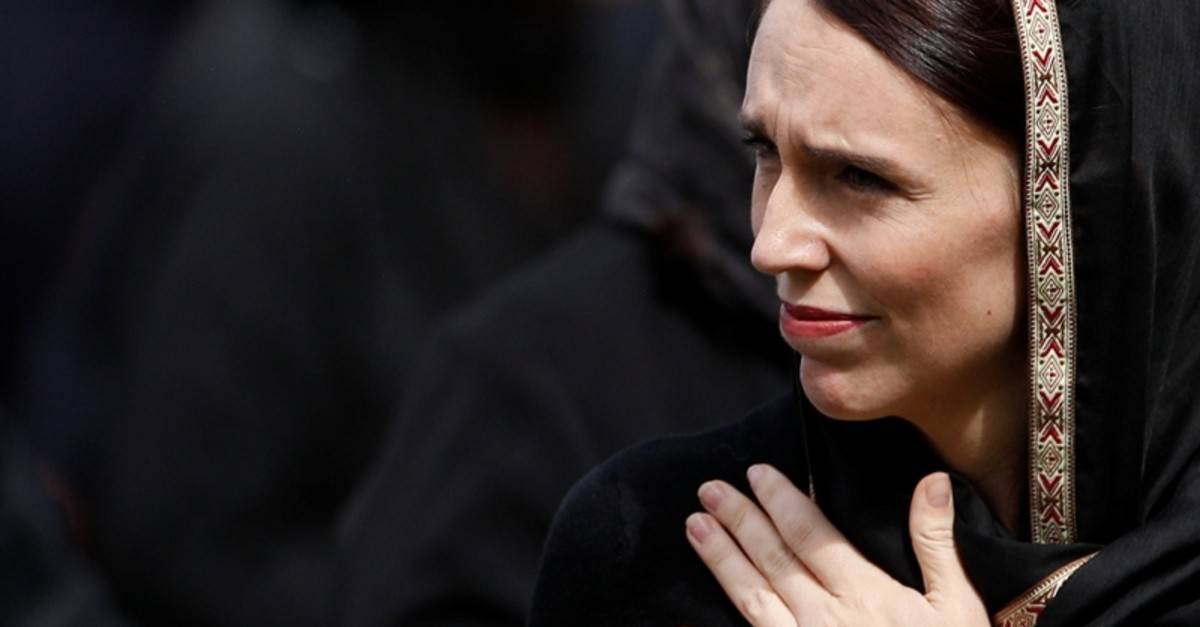New Zealand's Prime Minister Jacinda Ardern leaves after the Friday prayers at Hagley Park outside Al-Noor mosque in Christchurch, New Zealand March 22, 2019. (Reuters Photo)