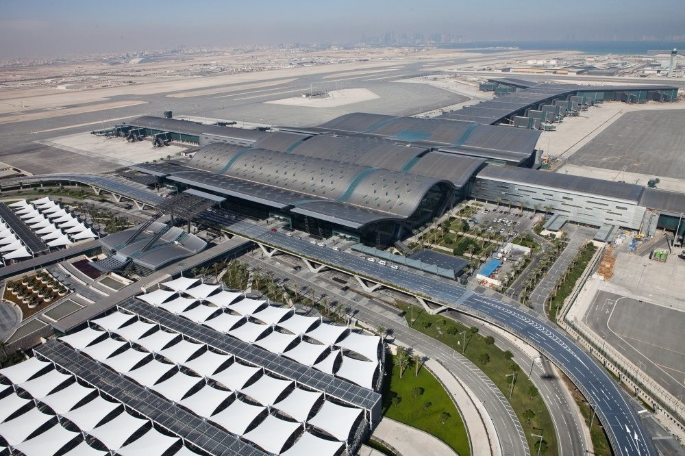 Hamad Airport Passenger Terminal Complex constructed by TAV Construction in Doha, Qatar.
