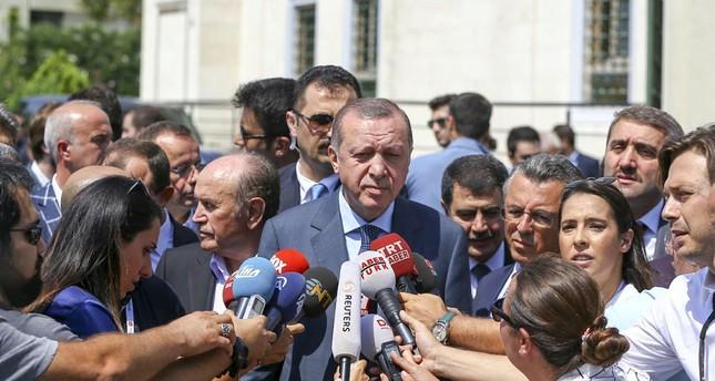 أردوغان: إن التلويح باستخدام السلاح النووي من دول تدعي مناهضتها له يدعو للتفكير