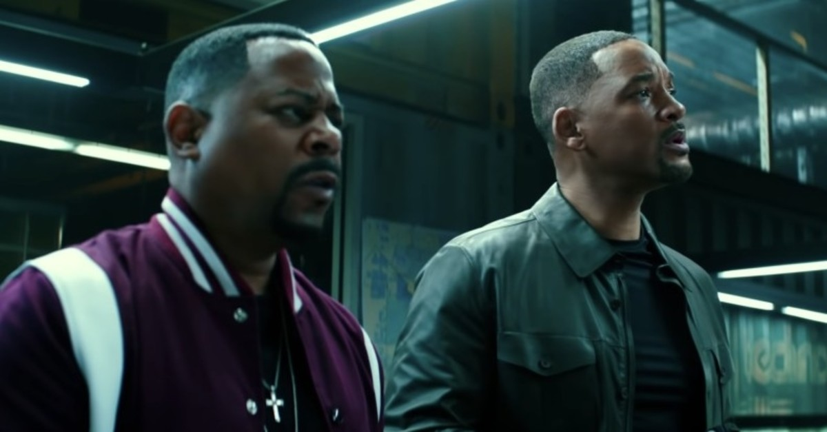 A still from the movie in ,Bad Boys For Life, shows Martin Lawrence (L) and Will Smith.
