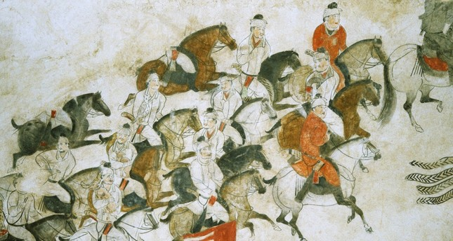 A Chinese illustration depicting the Battle of Talas during which Arabs faced Chinese forces. The battle is also considered a milestone as it led Turks to accept Islam as their new religion.