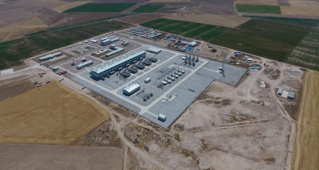 An aerial view of the Lake Tuz Natural Gas Storage Facility, located in central Anatolia. (?HA Photo)