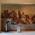 ترميم لوحة جدارية تاريخية فريدة لفنان فرنسي في مدينة إسطنبول