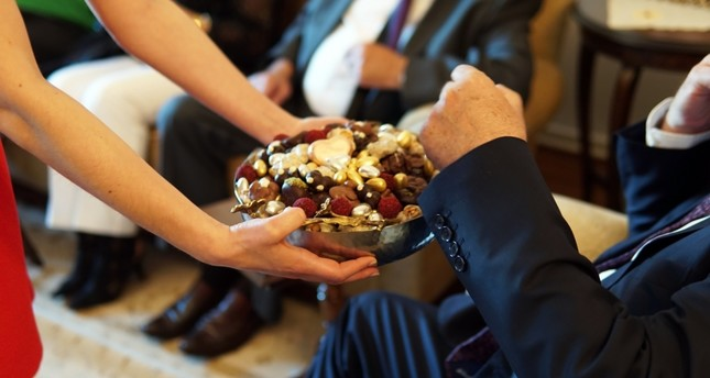 Offering sweets to visitors is a tradition of both Eid al-Fitr and Eid al-Adha.