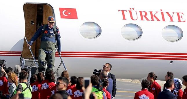 """طائرة أردوغان تهبط للمرة الثانية في مطار إسطنبول الجديد للمشاركة في مهرجان """"تكنوفيست"""""""