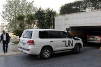 وفد المحققين يصل دمشق (EPA)