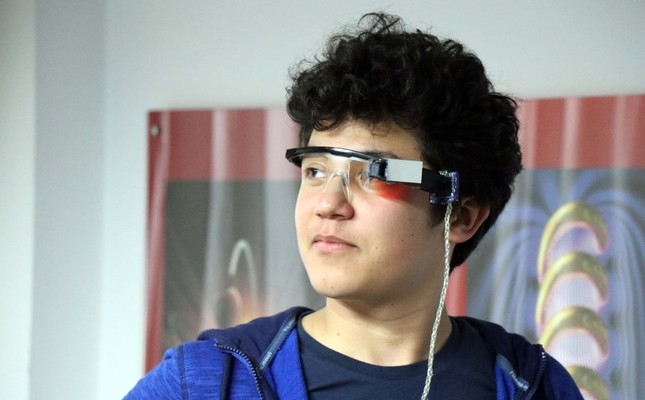 LED goggles convert speech to text for hearing impaired