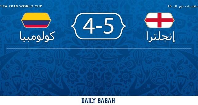 إنكلترا تتخطى كولومبيا وتتأهل إلى ربع نهائي كأس العالم بركلات الترجيح