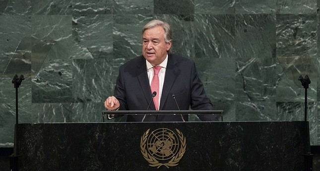UN Secretary General Antonio Guterres addresses the United Nations General Assembly at UN headquarters, September 19, 2017 in New York City. (AFP Photo)