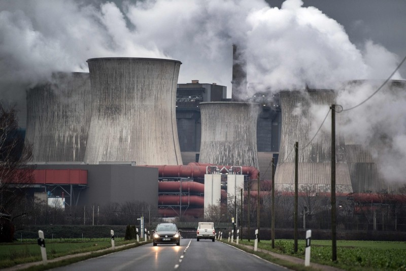 n this file photo taken on January 16, 2019 Picture taken shows the Niederaussem lignite fired power plant in Niederaussem, western Germany (AFP Photo)
