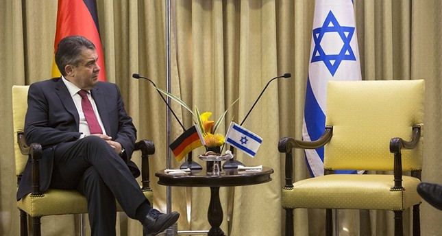 German Foreign Minister, Sigmar Gabriel looks on during his meeting with Israel's President, Reuven Rivlin at the President's residence in Jerusalem, Tuesday, April 25, 2017. (AP Photo)