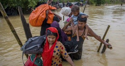 pMore than 421,000 Rohingya Muslims have been forced to flee their homes in Myanmar and cross the border into Bangladesh to escape violence and persecution since Aug. 25, the U.N. said...