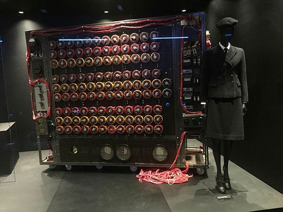 The u201cbombe,u201d a code breaking machine developed by a group of British mathematicians, is on display at the Spyscape Museum in New York.