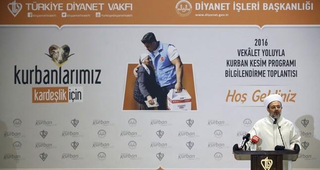 وقف الديانة التركي يذبح 125 ألف أضحية في 130 دولة