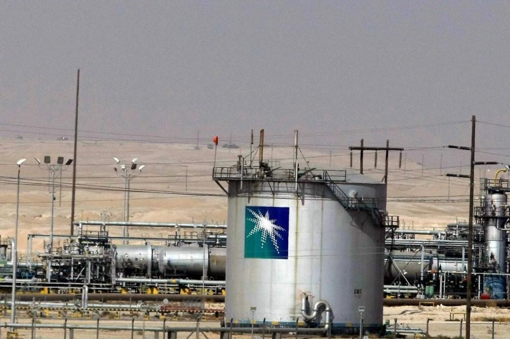 An oil facility of Saudi oil giant Aramco, Dammam, Saudi Arabia.