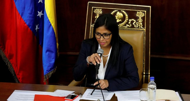 National Constituent Assembly President Delcy Rodriguez attends to one of its session in Caracas, Venezuela August 8, 2017. (REUTERS Photo)