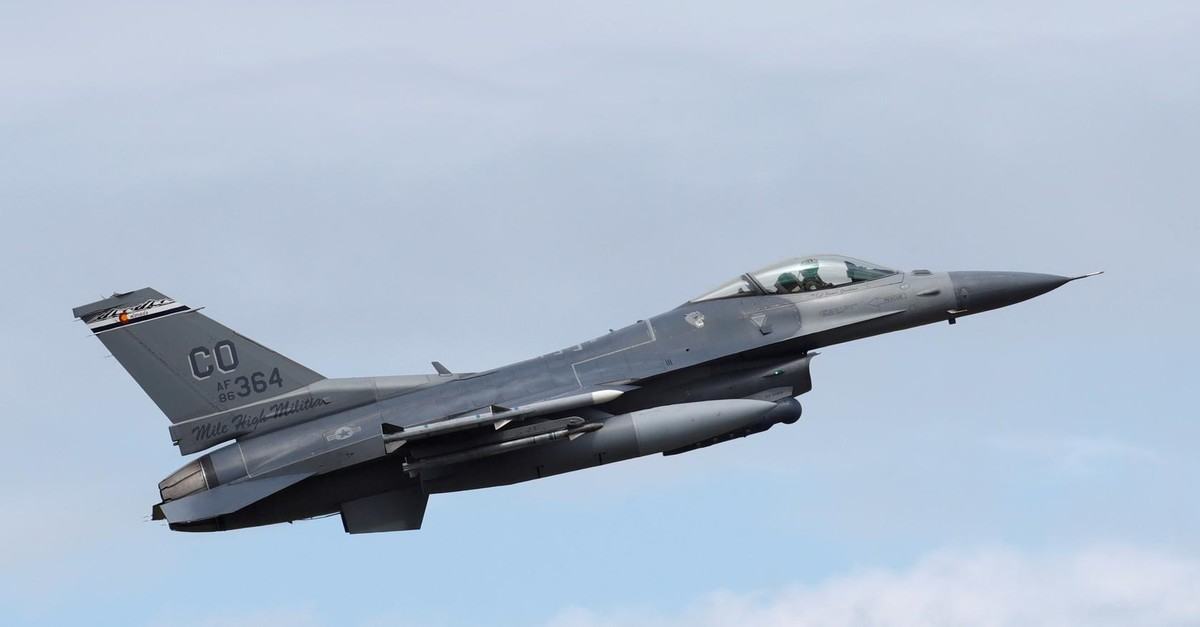 : A U.S. Air Force F-16 jet during a NATO exercise in Estonia, June 12, 2018 (Reuters File Photo)