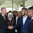 UFC champ Khabib attends Istanbul Airport opening, meets with Erdoğan