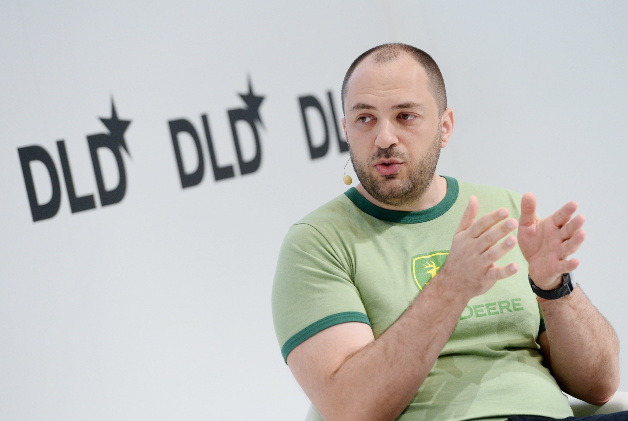Jan Koum, founder of WhatsApp speaks at the DLD (Digital-Life-Design) conference in Munich, Germany (EPA File Photo)