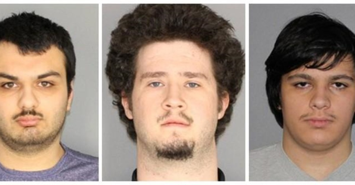 Vincent Vetromile, 19, of Greece, New York (L to R), Brian Colaneri, 20, of Gates, New York and Andrew Crysel of East Rochester, New York (Reuters File Photo)