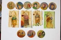 Turkish artist creates miniature paintings on used tea bags