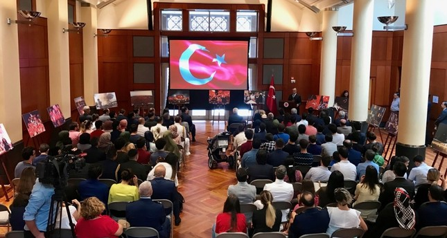 A commemoration event organized at the Turkish Embassy in Washington, July 15, 2019.