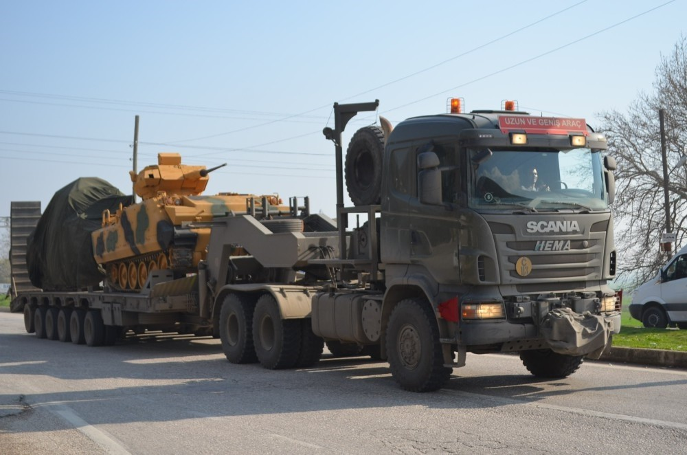Tanks were being deployed to Hatay province near Syrian border for imminent operation to PYD-held Afrin.