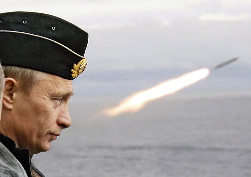 Russian President Vladimir Putin watches the launch of a missile during naval exercises in Russia's Arctic North. (Reuters File Photo)