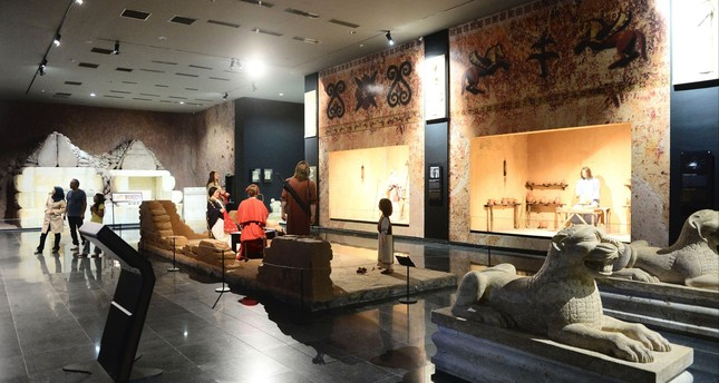 Pieces of the priceless collection of the Lydian King Croesus are displayed at the Uşak Archaeology Museum.