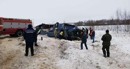 7 человека погибли в аварии с автобусом в России
