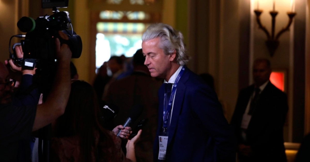 Dutch PVV party leader Geert Wilders arrives to attend the Forum The European House - Ambrosetti, in Cernobbio, northern Italy, Saturday, Sept. 7, 2019 (AP Photo)