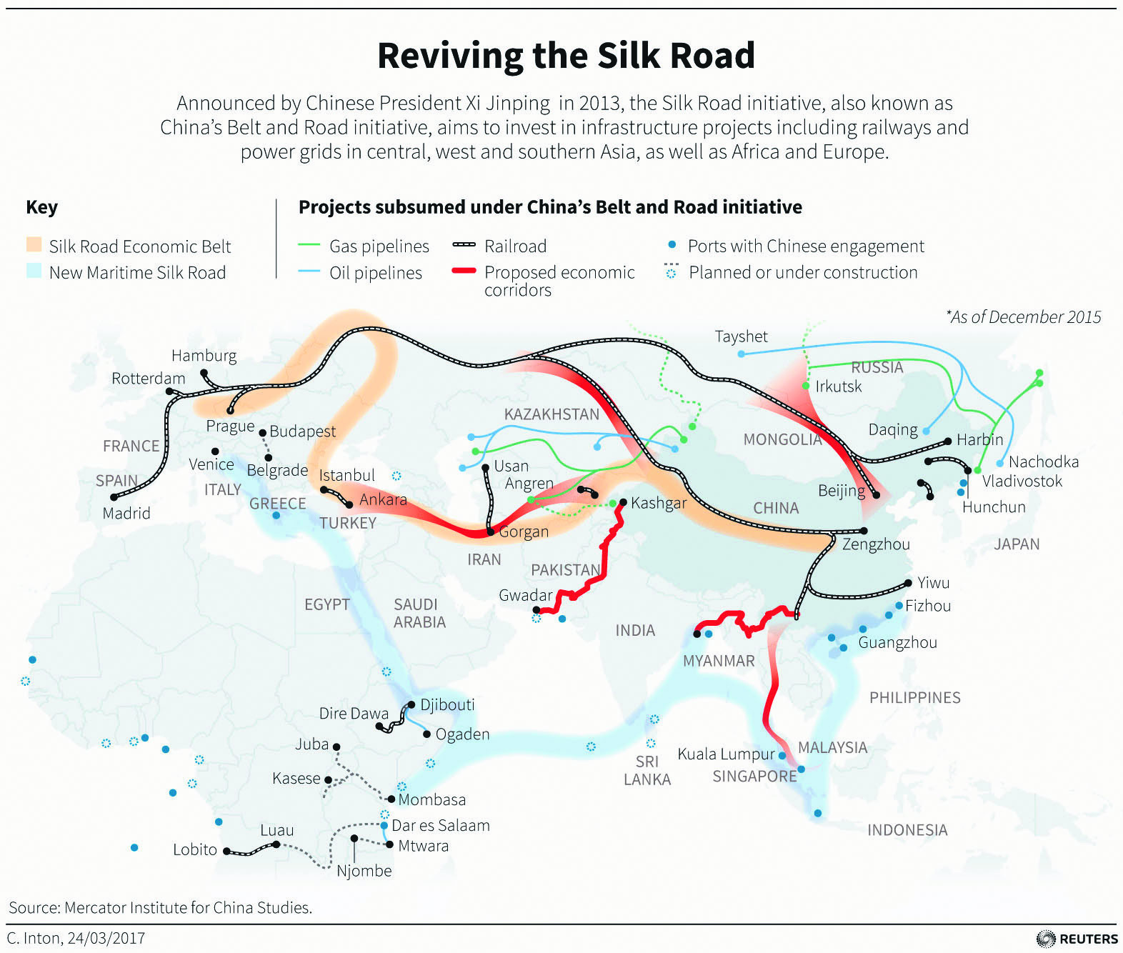 Located on Chinau2019s Belt and Road project, Turkey has been attracting Chinese investments, and as a result, the country has jumped to 46th from 55th place in 2015 on the global list of Chinau2019s outbound investments.