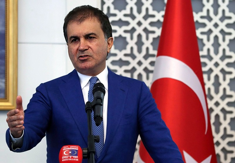 u00d6mer u00c7elik speaks during a joint press conference with British minister of state for Europe and Americas, after their meeting in Ankara on August 17, 2017 (AFP Photo)